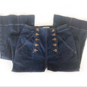 Ulla Johnson Ashton Flare Jeans Dark Wash Sz 4